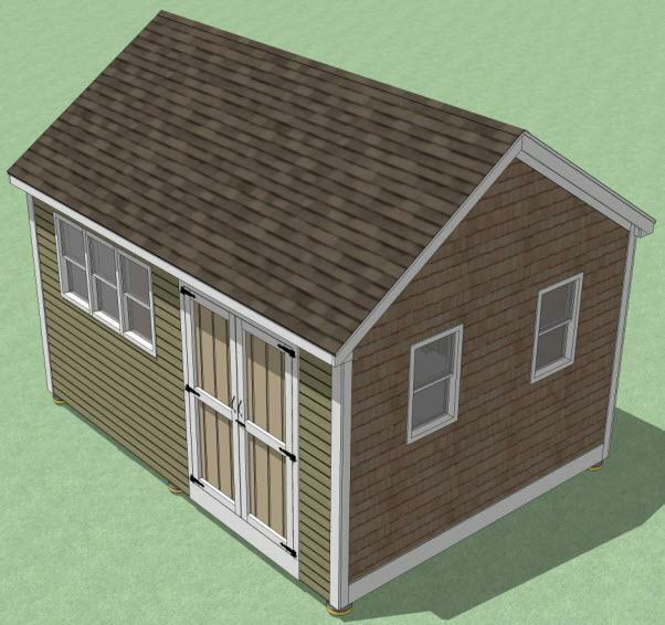 12x16 Shed Plans- How To Build Guide - Step By Step - Garden / Utility / Storage | eBay