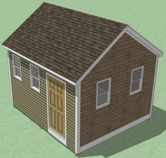 12x14 shed plans how to build guide step by step for Utility storage shed