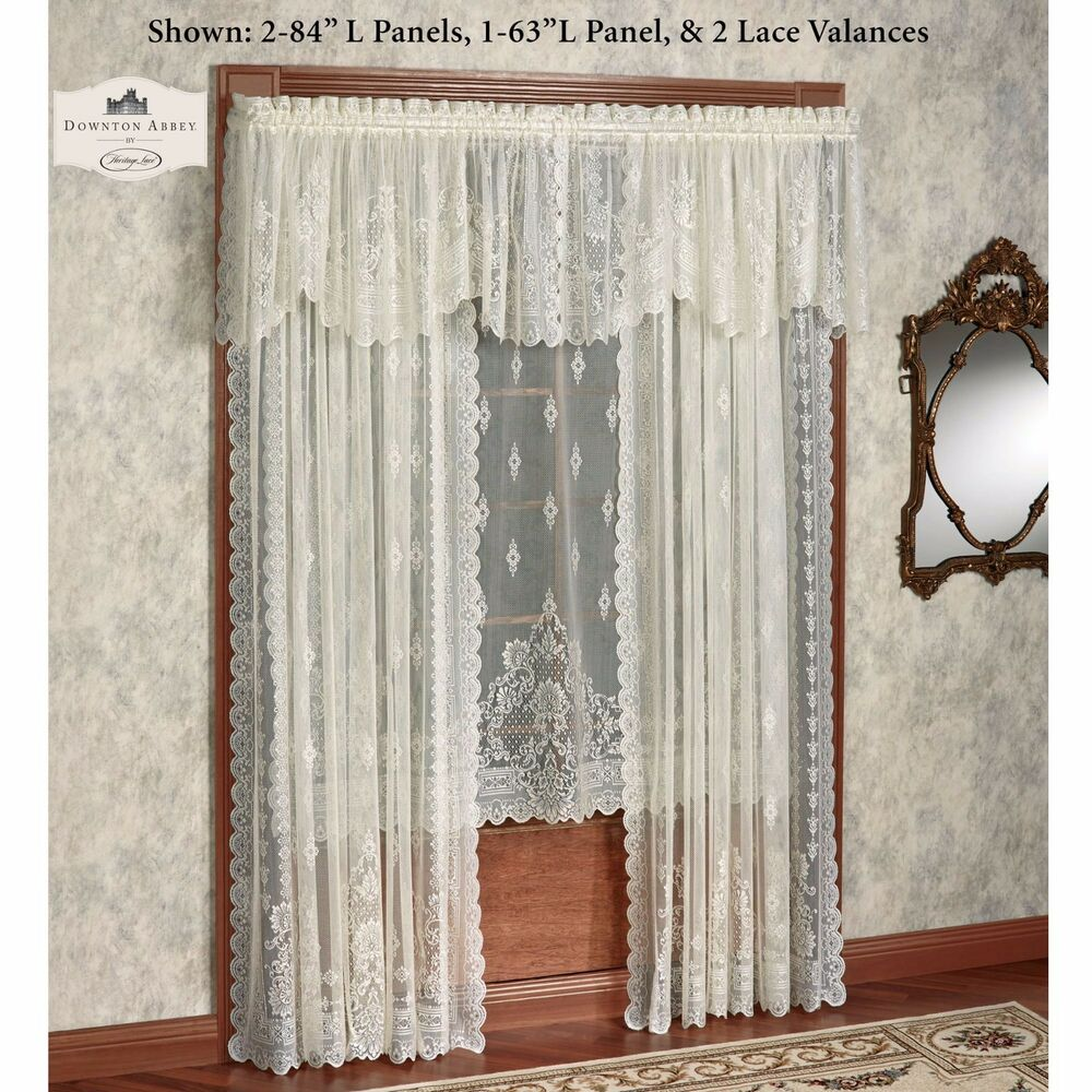Downton Abbey Milady Collection Victorian Lace Valance Lady Mary Heritage Lace