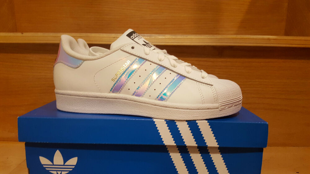 adidas superstar junior classic white hologram iridescent. Black Bedroom Furniture Sets. Home Design Ideas