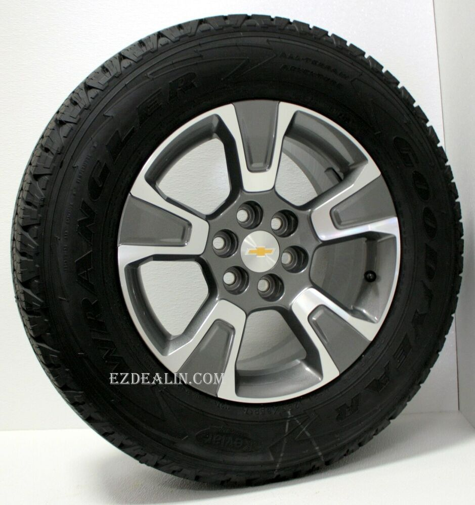 new chevy colorado z71 factory oem 17 inch wheels rims goodyear tires tpms ebay. Black Bedroom Furniture Sets. Home Design Ideas
