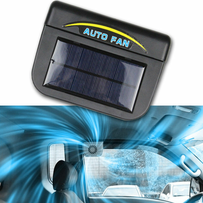 solar sun powered power window fan ventilator auto cool air vent for car vehicle ebay. Black Bedroom Furniture Sets. Home Design Ideas
