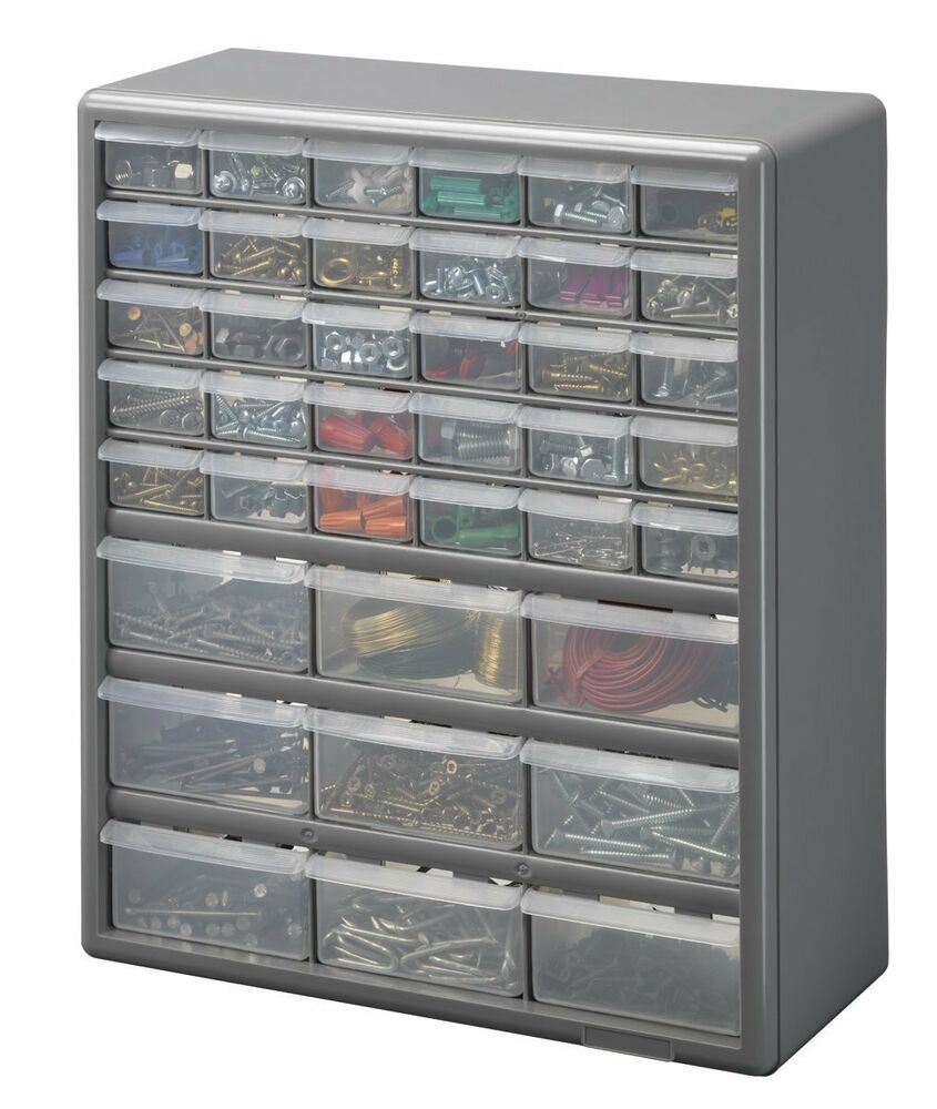 39 Drawer Storage Cabinet Hand Tool Small Item Electronic