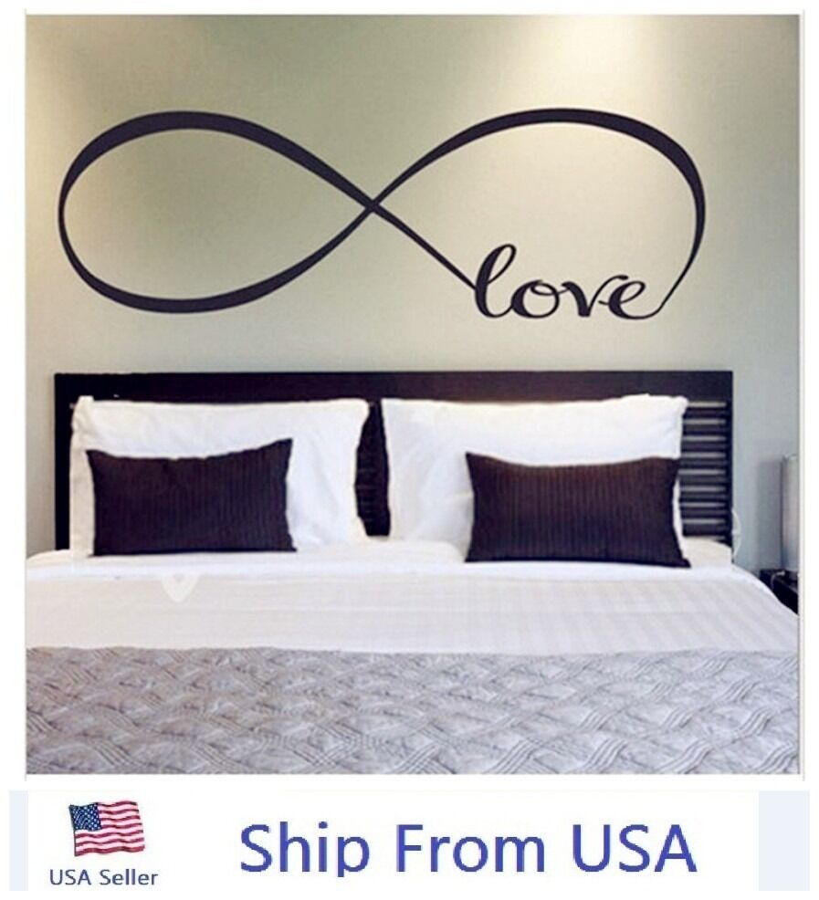 LOVE Infinity Wall Decal Lettering Words Removable Vinyl