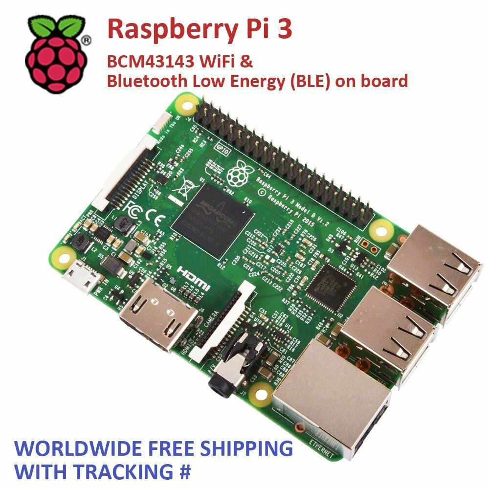 raspberry pi 3 model b brand new 2016 wifi bluetooth. Black Bedroom Furniture Sets. Home Design Ideas