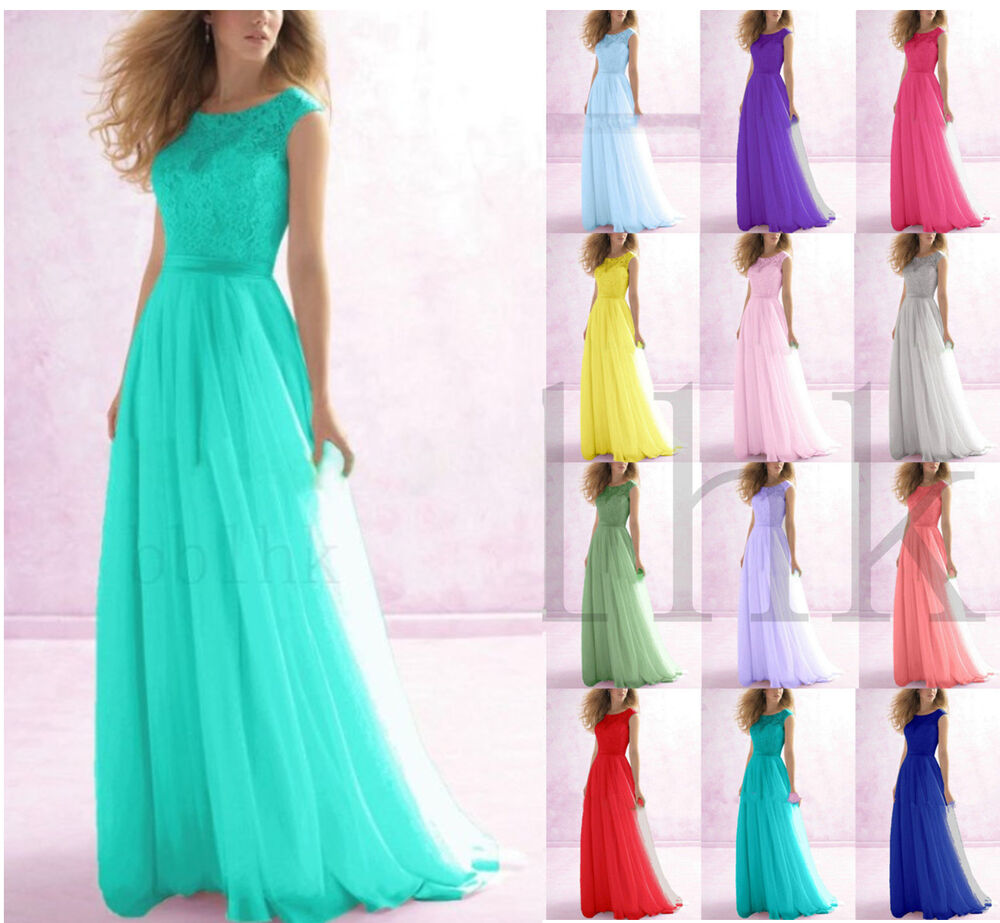 Long prom dress evening cocktail dress formal party for Ebay wedding bridesmaid dresses