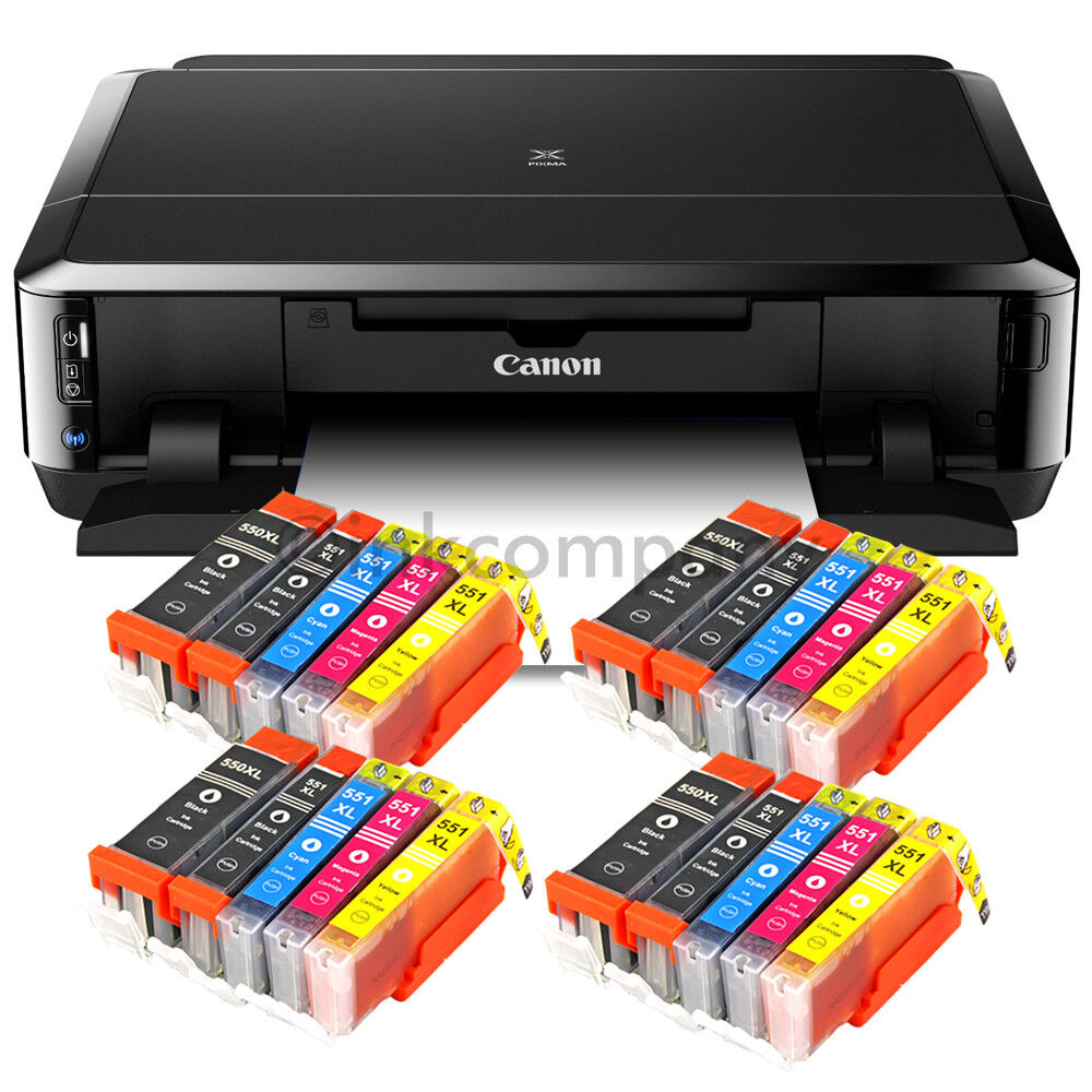 canon pixma ip7250 drucker cd bedruckung duplex foto wlan usb 20x xl tinte ebay. Black Bedroom Furniture Sets. Home Design Ideas