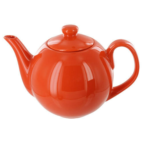 Teaz Cafe Teapot With Stainless Steel Infuser 40oz Orange Ebay
