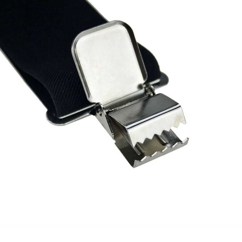 Selecting men's suspenders. Men's suspenders add detail to an outfit while serving an important function. They're available in a variety of colors and materials, such as cotton, leather, and even silk, that pair well with both formal and more casual outfits.