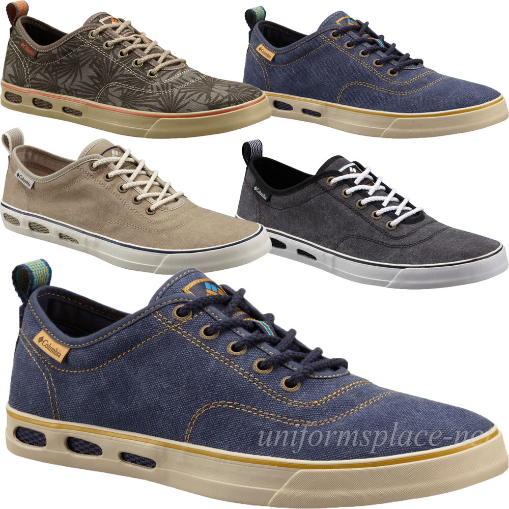Columbia classic sneakers mens vulc n vent canvas sneakers for Fish tennis shoes