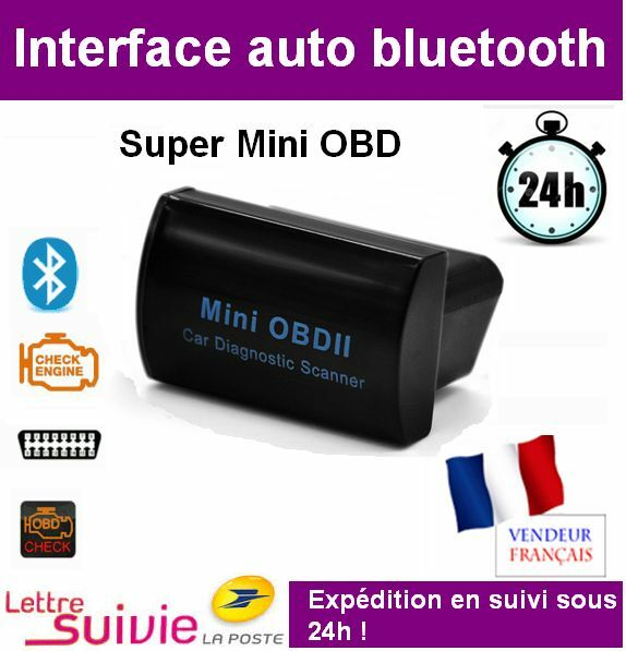 interface super mini bluetooth compatible elm 327 obd obd2 diagnostique scanner ebay. Black Bedroom Furniture Sets. Home Design Ideas
