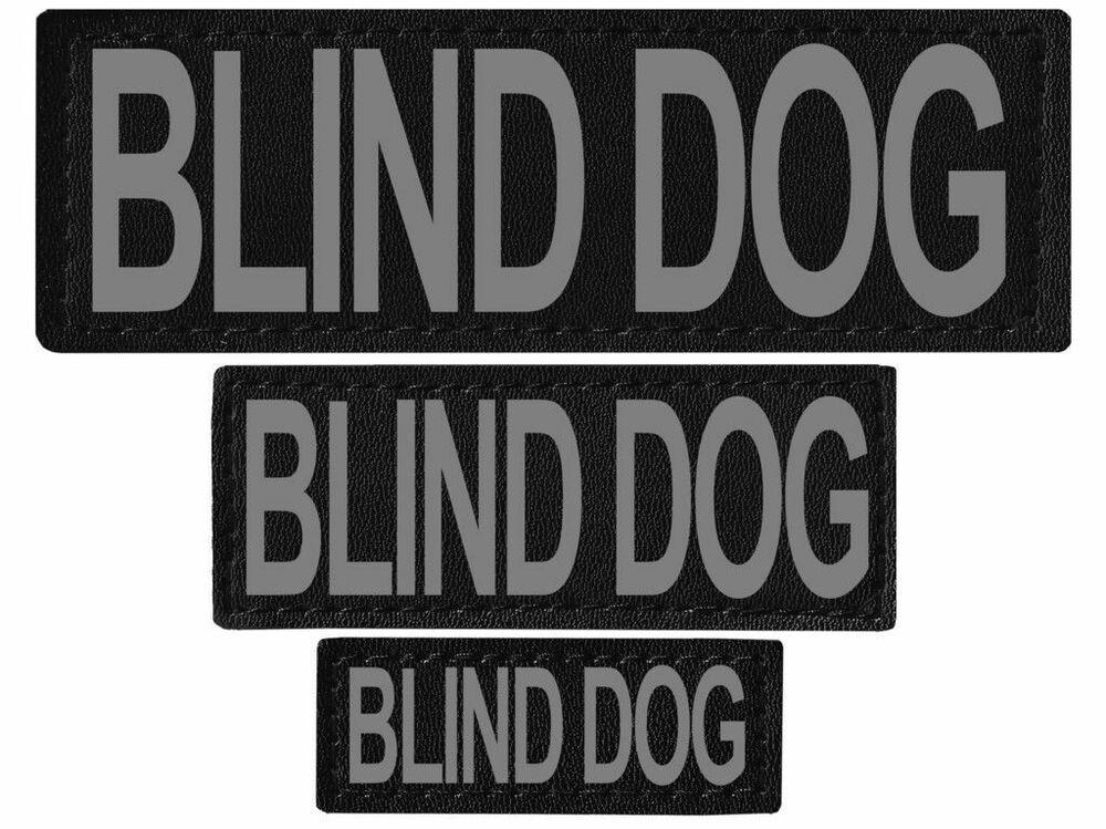 Blind Dog Patch Reflective Extra Label Tag For Dog Harness