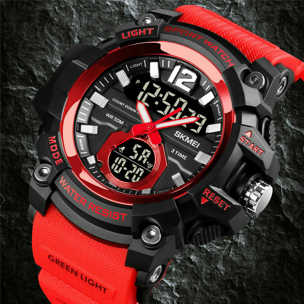 Army s shock sport quartz wrist men 39 s analog digital watch waterproof military ebay for Watches digital