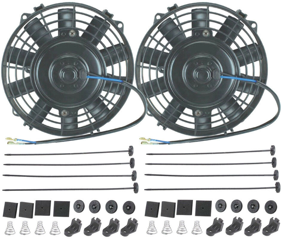 Dual 6 Quot Inch Electric Fans 12v 80w Atv Honda Yamaha Water