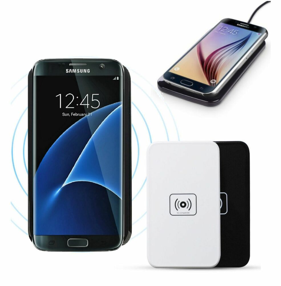 qi wireless charger charging pad for samsung galaxy s7 s6. Black Bedroom Furniture Sets. Home Design Ideas