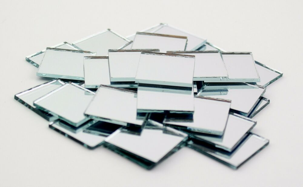 1 inch small glass craft square mirrors bulk 100 pieces