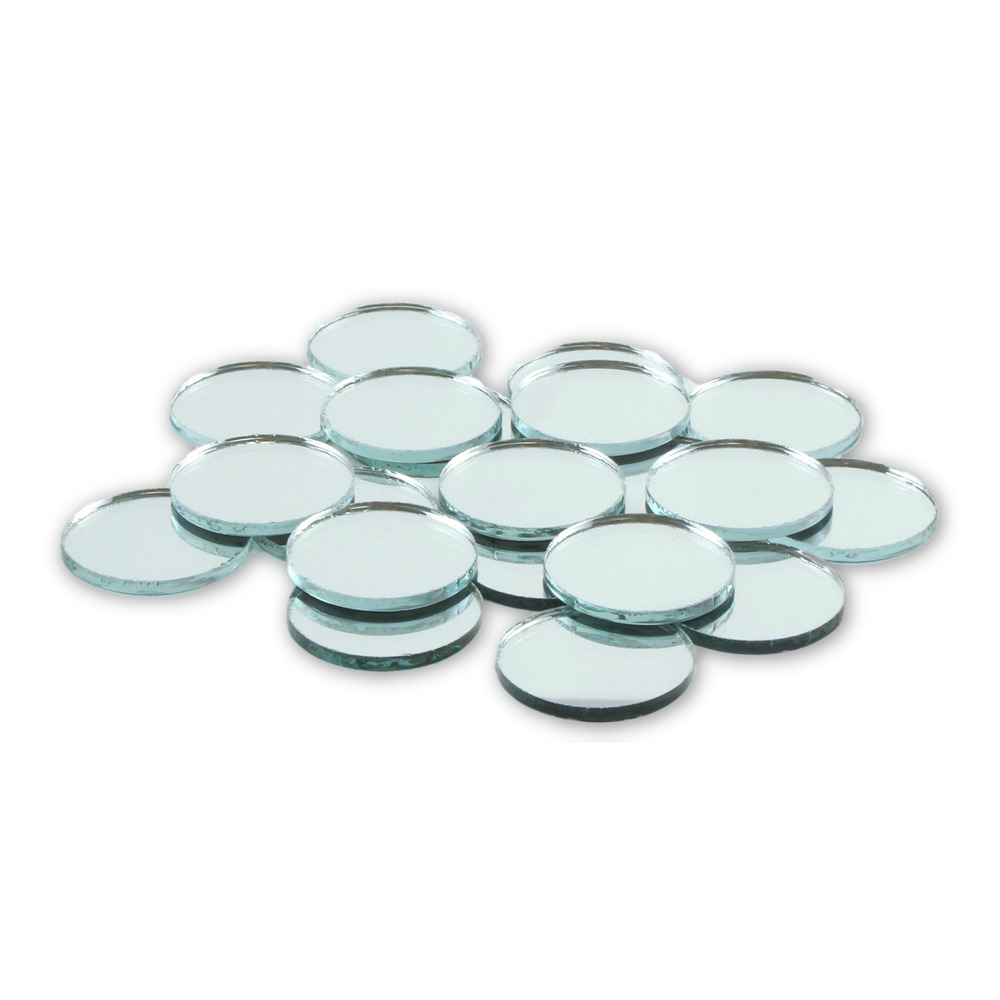 1 Inch Glass Craft Small Round Mirrors Bulk 100 Pieces