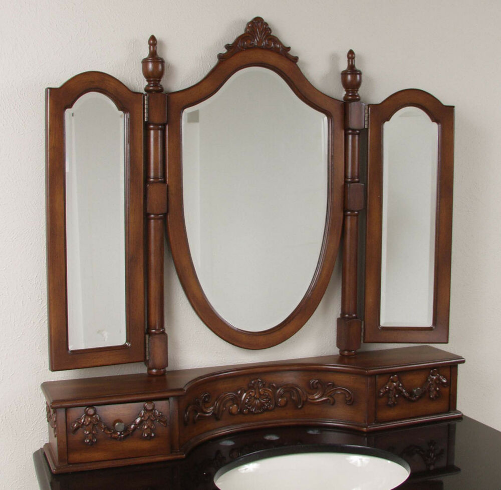 Tri Fold Bevelled Mirror Matches Many Vanities Ebay
