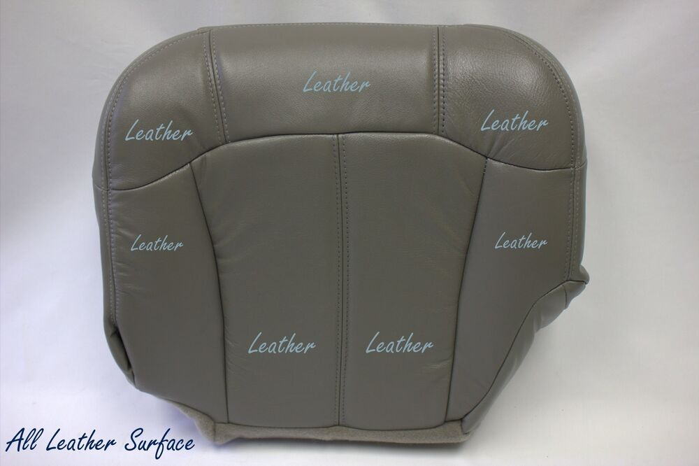 2002 chevy silverado driver bottom replacement leather seat cover pewter gray ebay. Black Bedroom Furniture Sets. Home Design Ideas