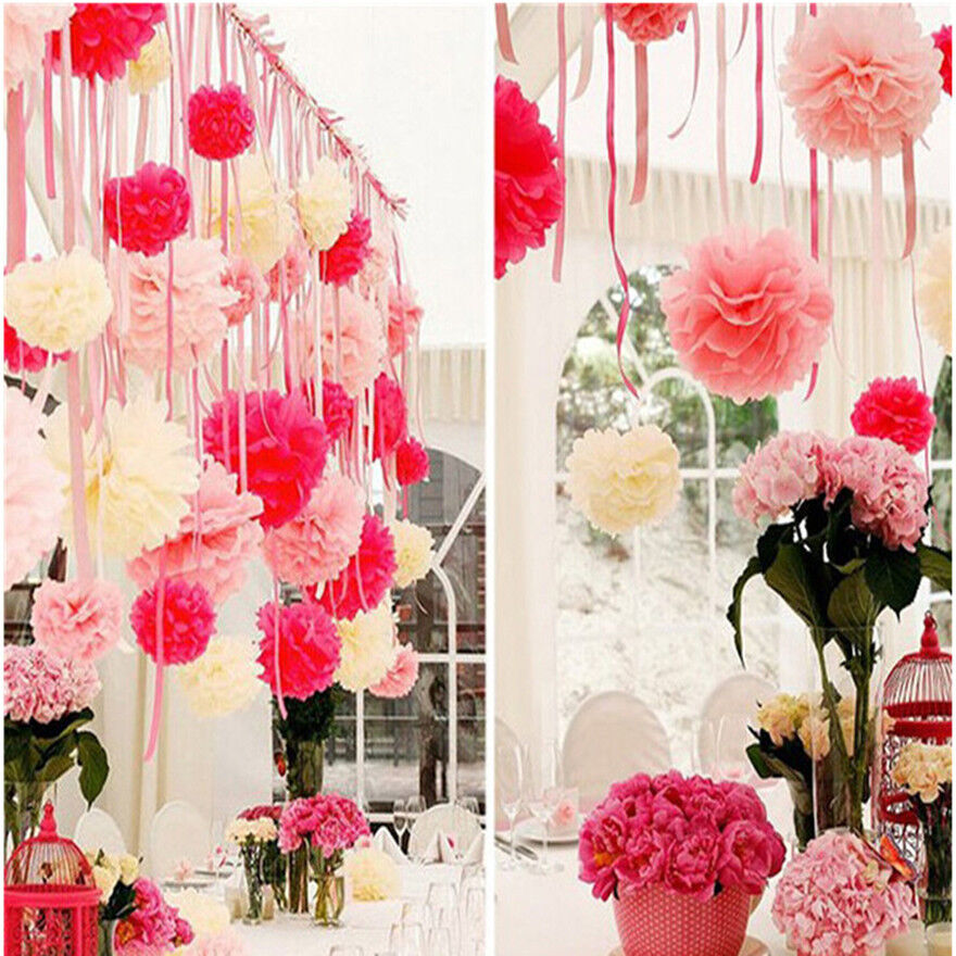 20pcs flower balls outdoor decor home wedding party s for Home decorations with paper