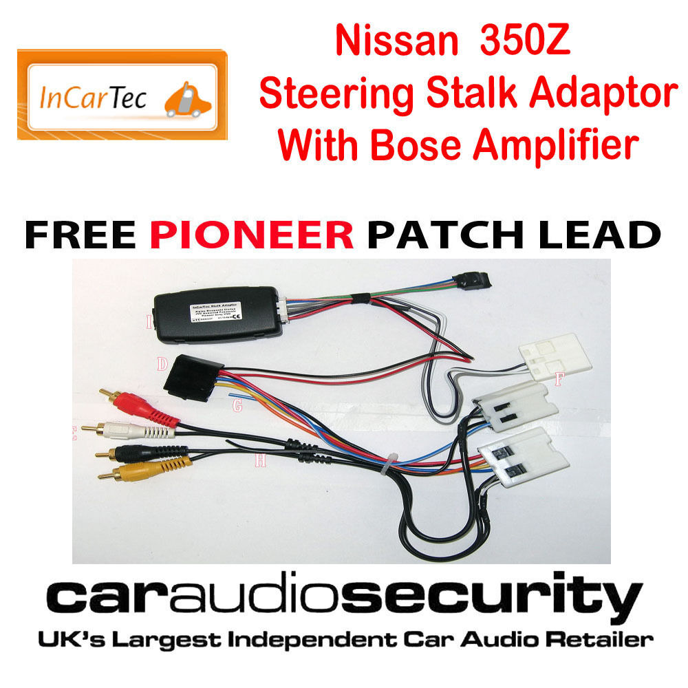Nissan 350z Coupe Roadster Steering Control Bose Adaptor For Pioneer Full Car Cd Stereo Fitting Kit Fascia Wiring Harness Ebay