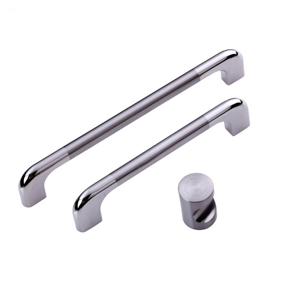 Stainless steel kitchen cabinet cupboard door handles for Small door knobs and handles