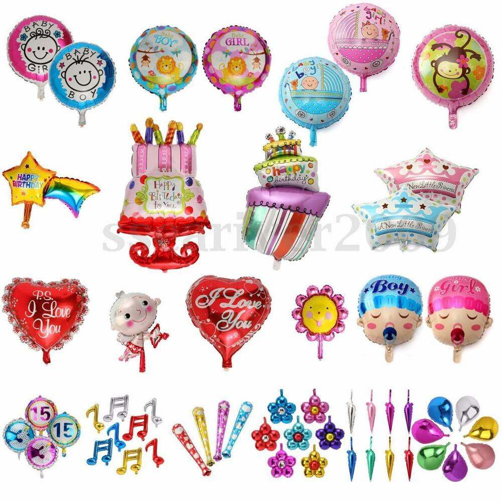 Funny pattern foil balloon kids children baby happy for Balloon decoration kids party