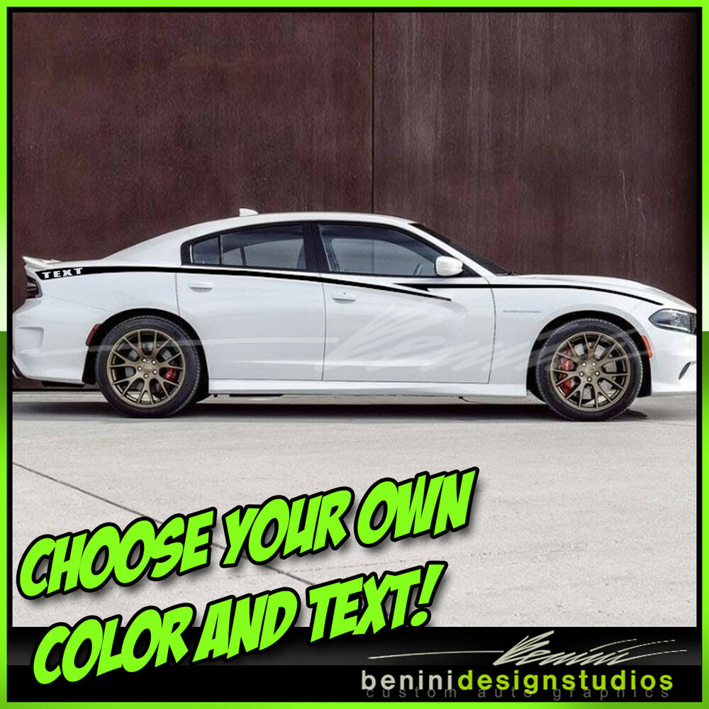 Details About 2010 2017 2016 Dodge Charger Side Stripes Graphics Srt Rt Super Bee Hellcat