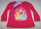 Disney Princess Girls Pink Long Sleeve T Shirt Size 7 New