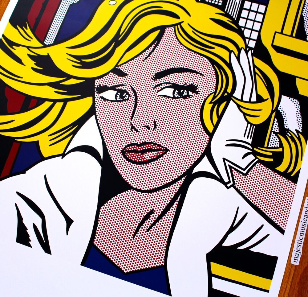 Original 2005 roy lichtenstein germany exhibition poster for Poster roy lichtenstein