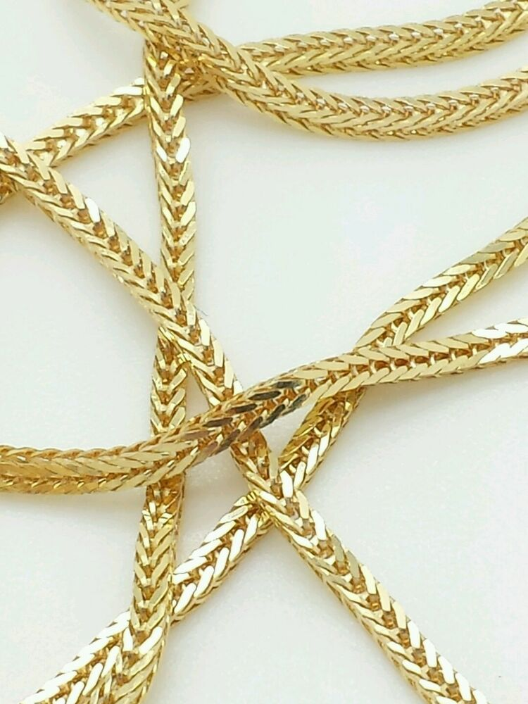 14k solid yellow gold italian box wheat necklace pendant. Black Bedroom Furniture Sets. Home Design Ideas