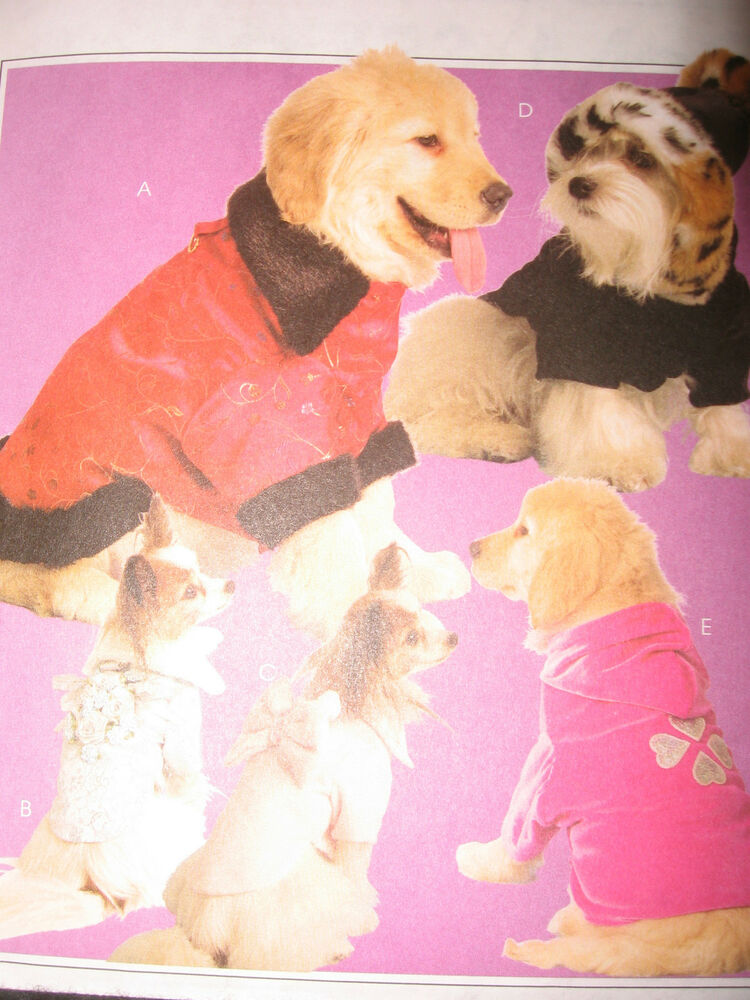 Oop mccalls dog puppy hats coats clothes pet pattern for Dog coat template