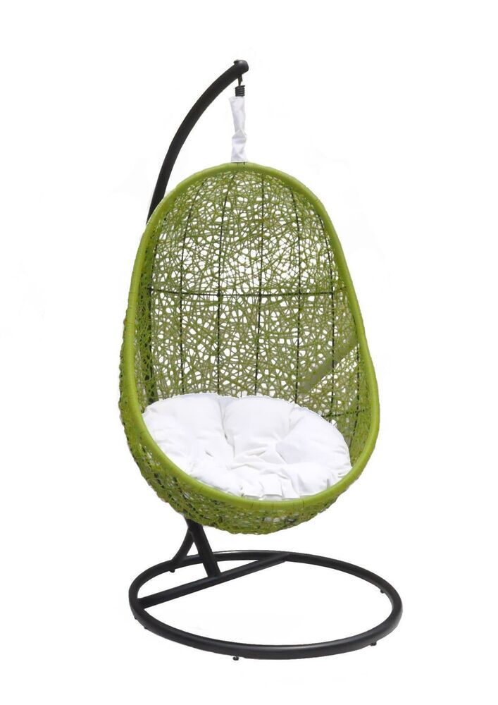Belina Outdoor Wicker Patio Swing Chair W Matching Stand Model Y9037GN