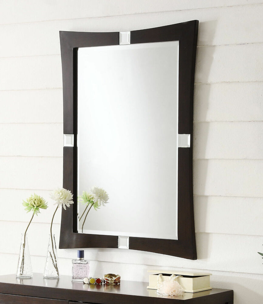 26 inch modern contemporary rectangular wall mirror for Contemporary mirrors