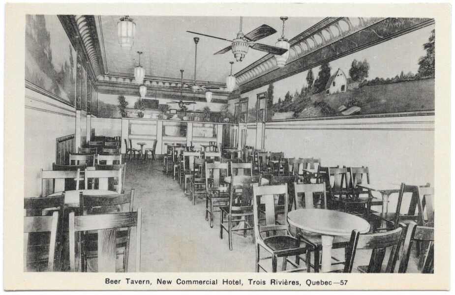 Postcard Beer Tavern New Commercial Hotel Trois Rivieres Quebec Canada 105159 Ebay