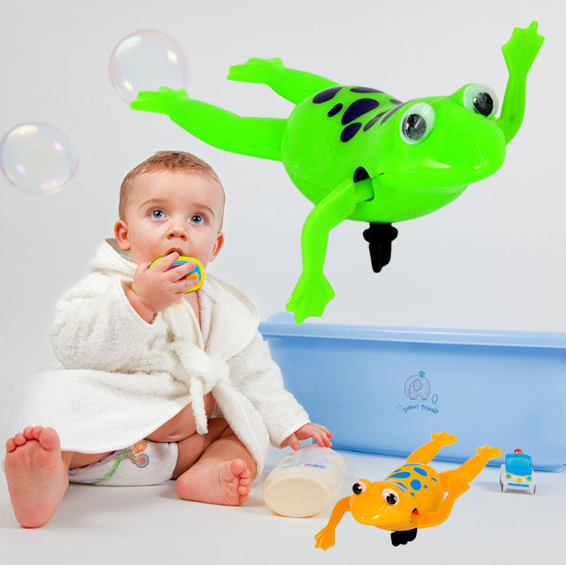 Swimming Frog Battery Operated Pool Bath Wind Up Swim Frogs Kids Toy Cute Ebay