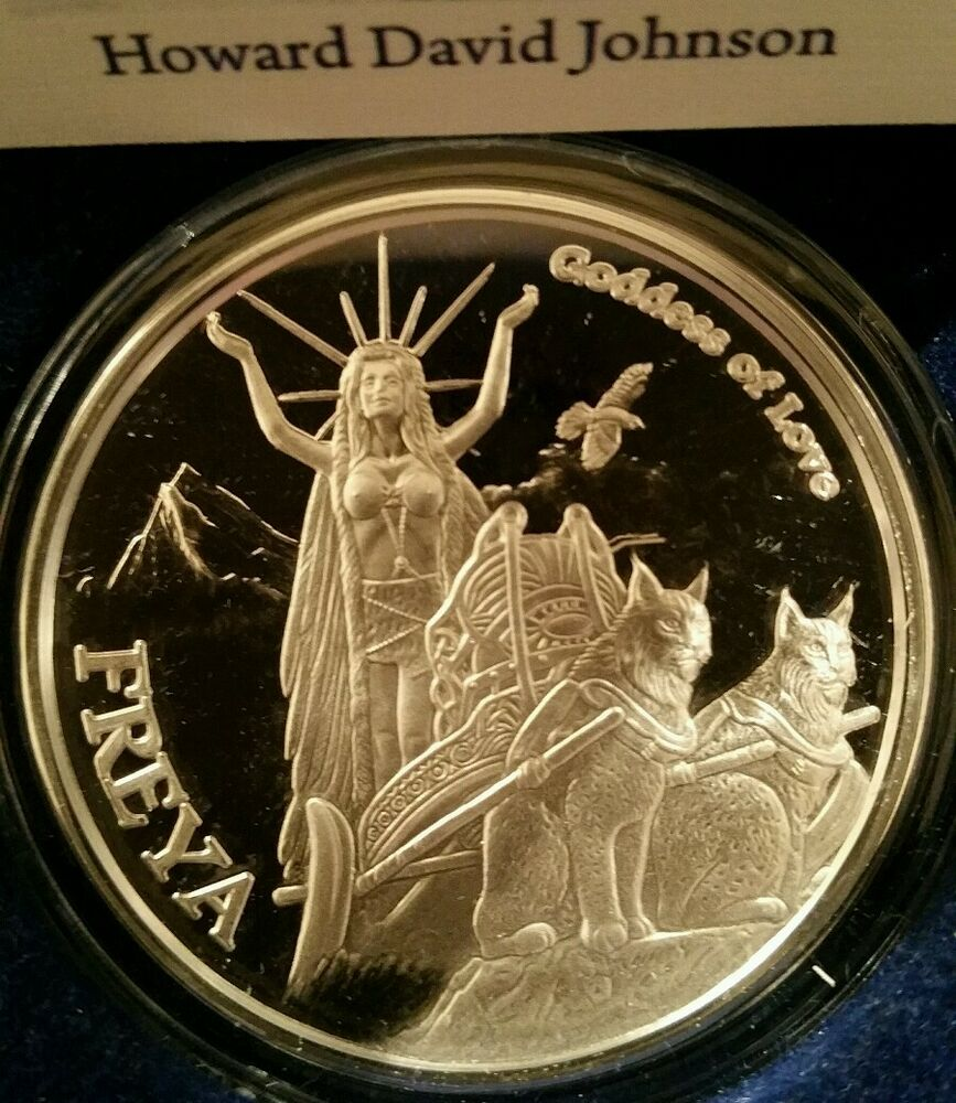 Freya Goddes Of Love Valkyrie 1 Oz 999 Silver Proof