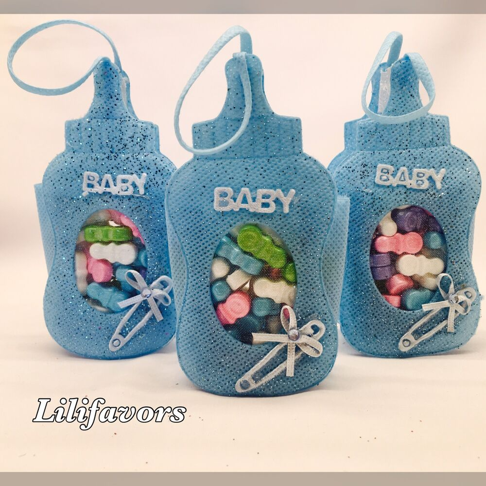 bottle pouches baby shower favors blue party decorations boy ebay