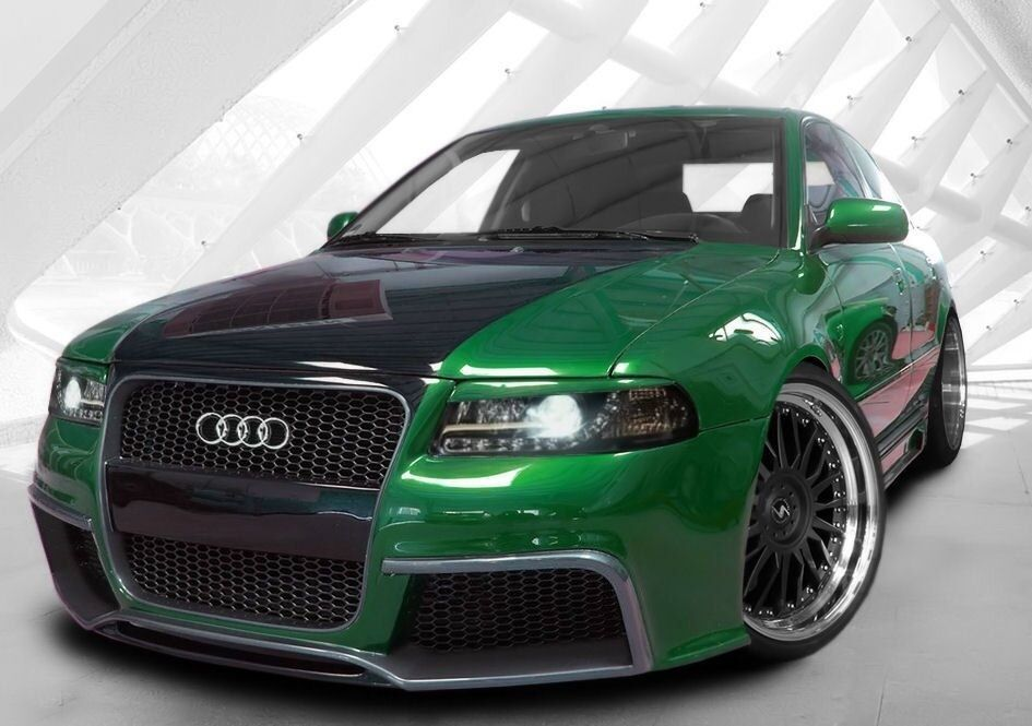 audi a4 b5 body kit frontbumper rearbumper sideskirts. Black Bedroom Furniture Sets. Home Design Ideas