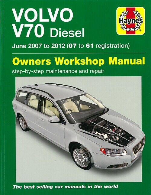 haynes handbuch volvo v70 diesel 2012 reparaturanleitung. Black Bedroom Furniture Sets. Home Design Ideas