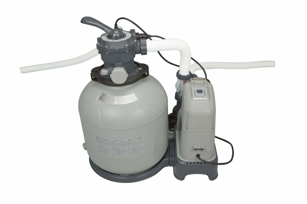 Intex 2650 gph saltwater system sand filter pump swimming pool set 28681eg ebay - Sandfilterpumpe fur pool ...
