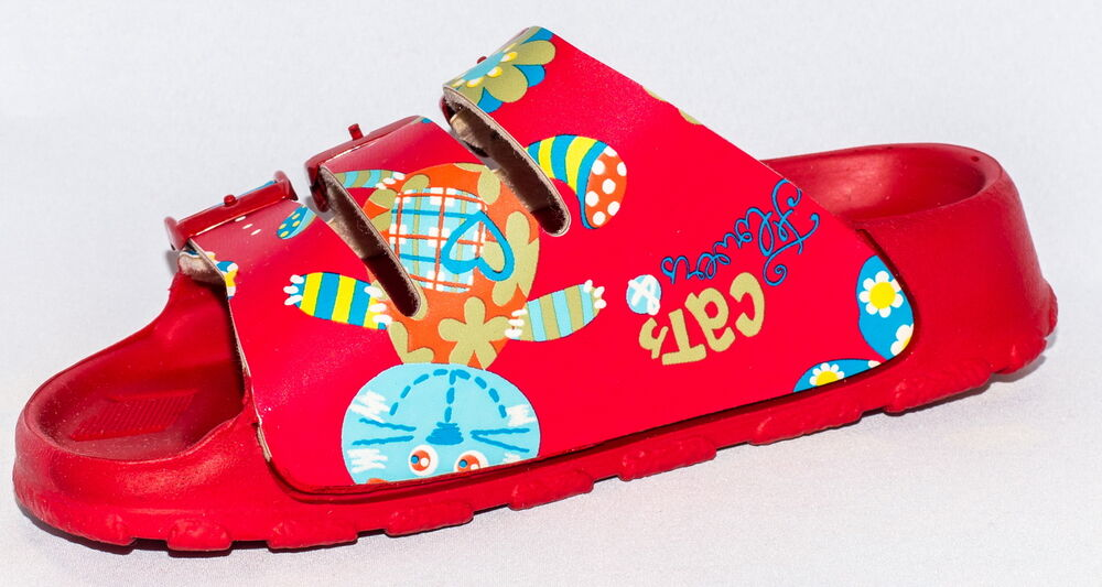 e7cbcacc8a27 Details about Birki Sandals by Birkenstock for Women Strap Sansibar Cats  and Flower Red