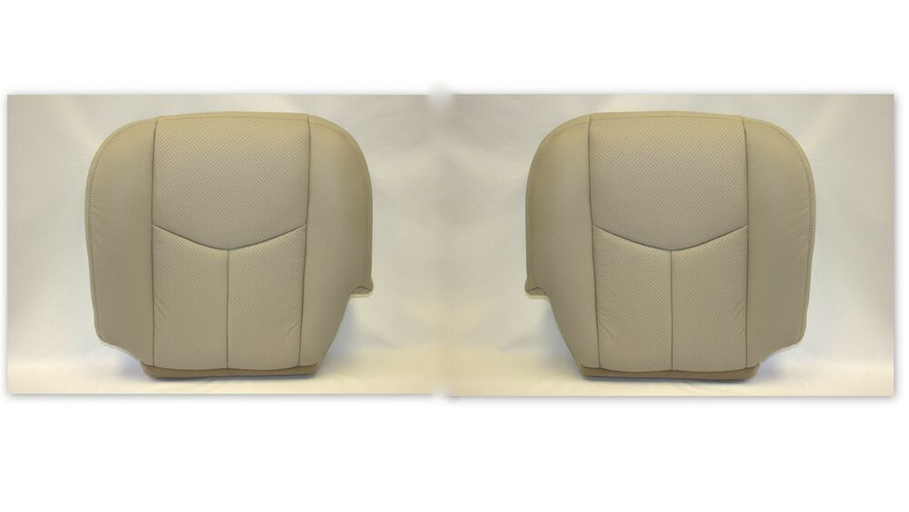 2005 2006 Cadillac Escalade Driver and Passenger Bottom Leather Seat Cover Tan | eBay