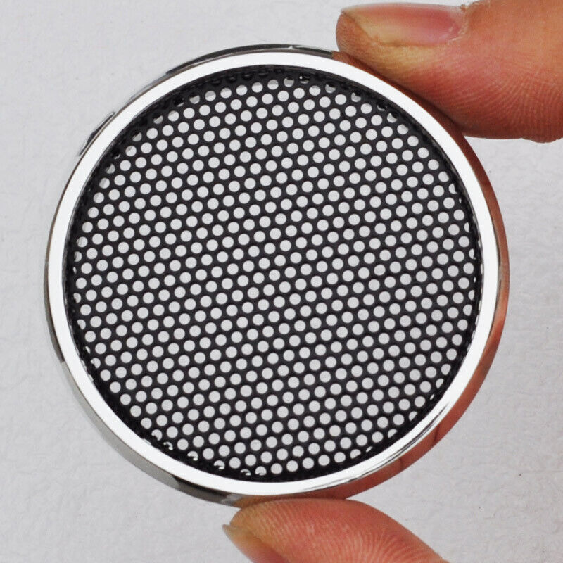 2pc 1 inch tweeter audio speaker cover decorative circle with metal mesh grille ebay. Black Bedroom Furniture Sets. Home Design Ideas
