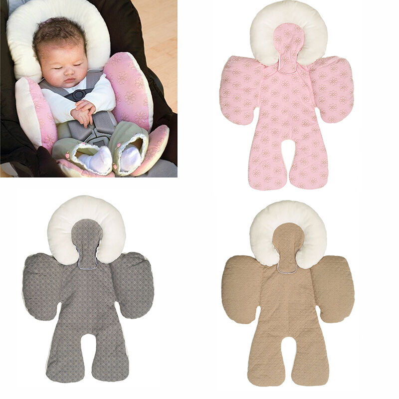 two sided newborn baby head body support infant pram stroller car seat pillow ebay. Black Bedroom Furniture Sets. Home Design Ideas