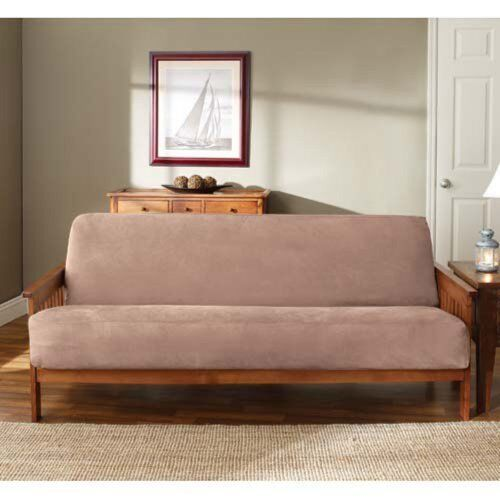 Futon Mattress Sofa Bed Cover Slipcover Soft Suede Woven