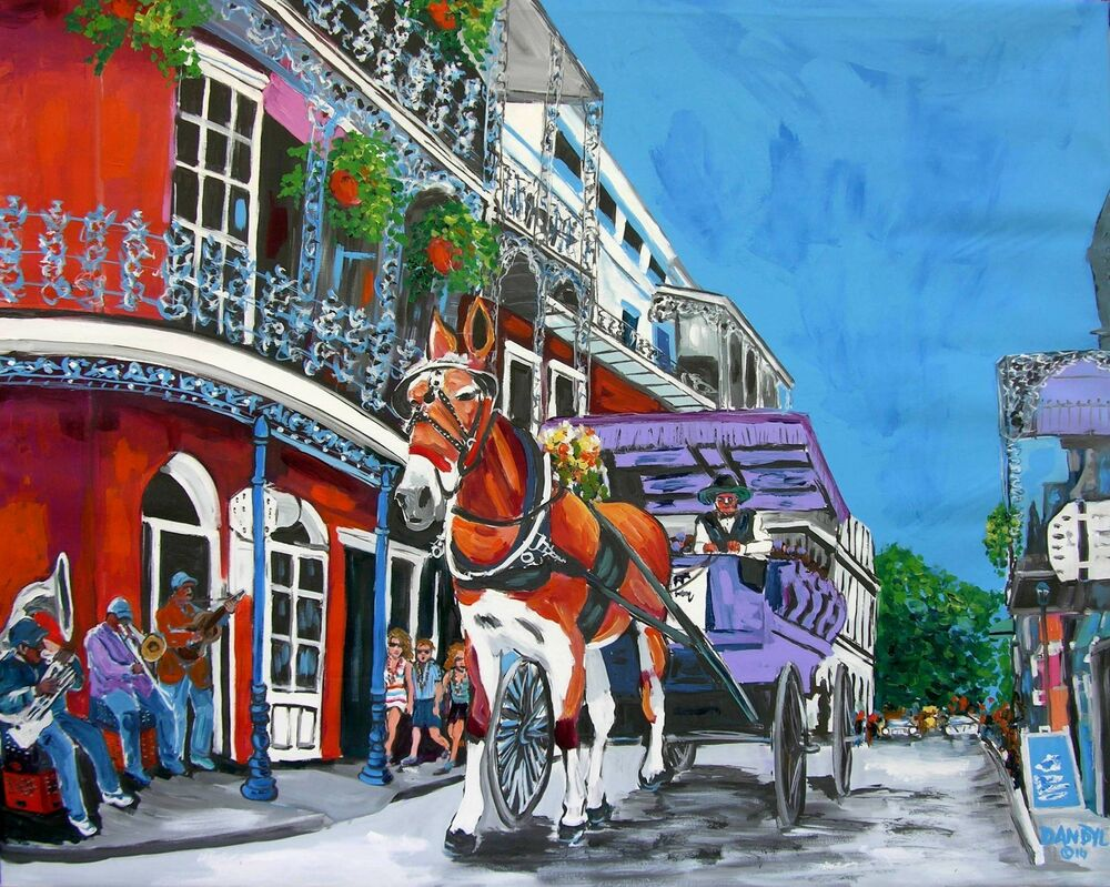 New orleans horse mardi gras original art painting dan byl for Craft store new orleans