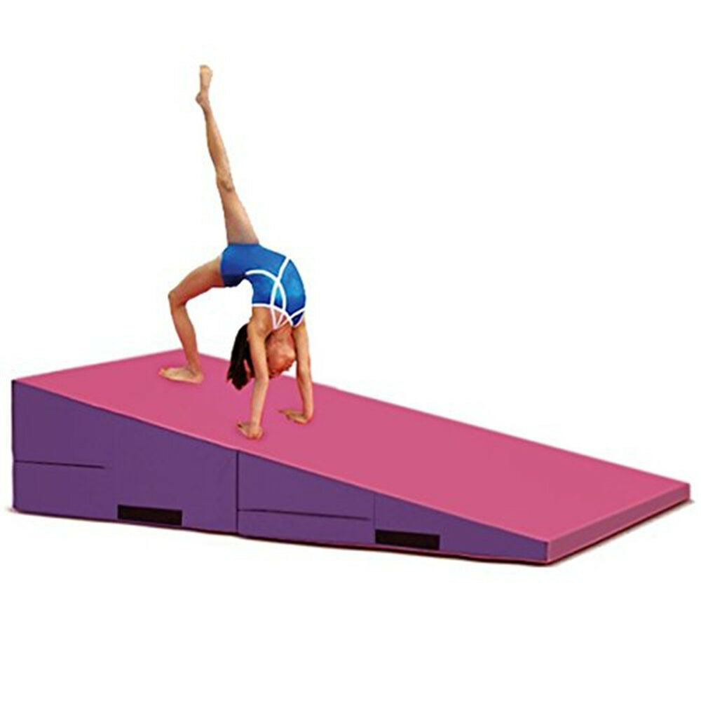 cheese skill for ramp w kids tumbling blue wedge gymnastics incline mat green product folding large h training shape l mats