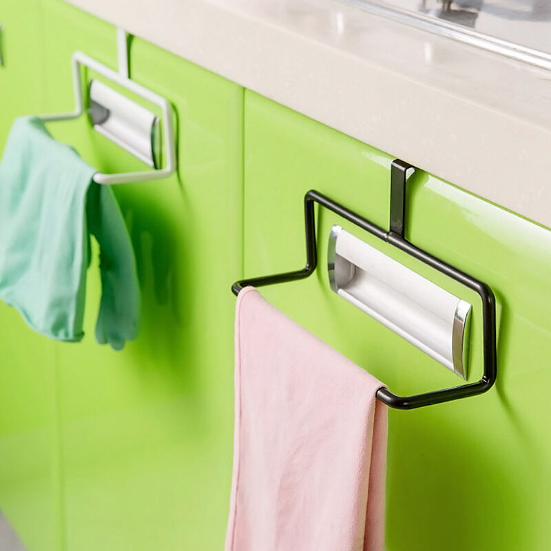 Over door tea towel holder rack rail cupboard hanger kitchen bar hook bathroom ebay for Door towel racks for bathrooms