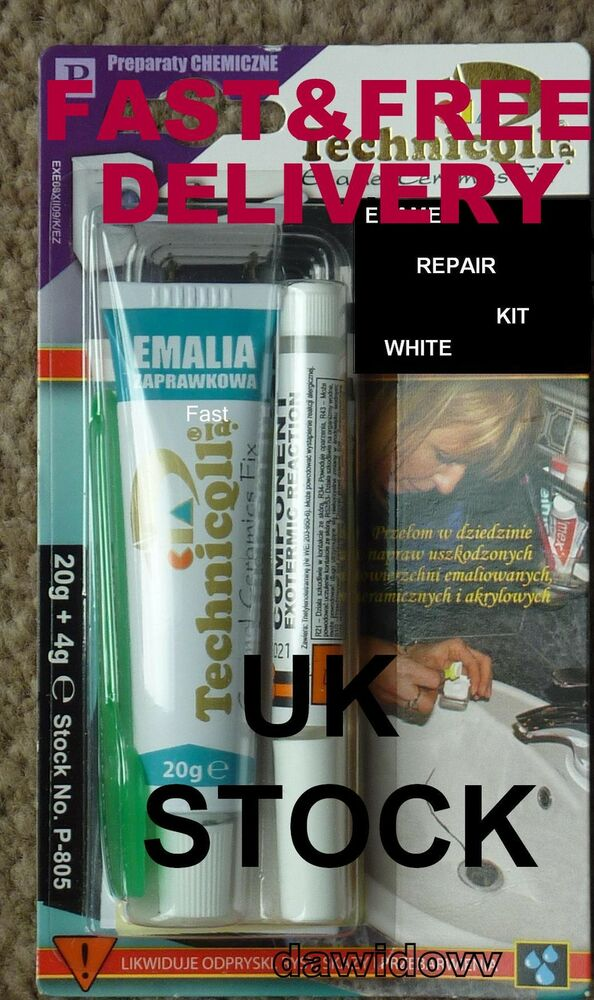 Bath Shower Sink Repair Kit White Fix Filler Chips
